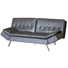 Euro Convertible Tribeca Leather Sofa