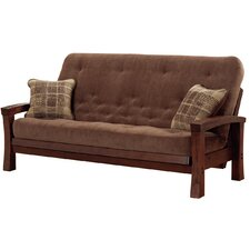 Cypress Hardwood Futon with Super-Spring Mattress