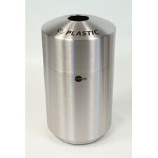 Cleanline 39 Gallon Top Load Envirospin Stainless Steel Recycle Receptacle