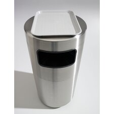 Cleanline 39 Gallon Side Load Stainless Steel Waste Receptacle with Tray Top