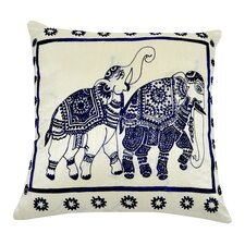 Ceremonial Elephants Pillow
