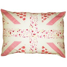 Floral Union Jack Cotton Pillow