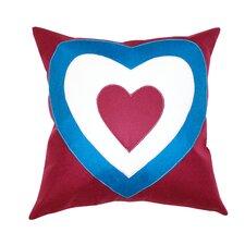 Heart Union Jack 2 Cotton Pillow
