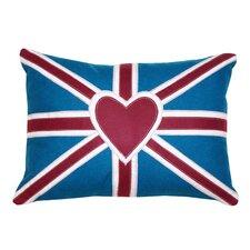 Heart Union Jack 3 Cotton Pillow