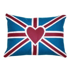Heart Union Jack 3 Cotton Pillow