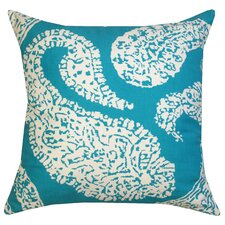 Overscale Paisley Cotton Pillow
