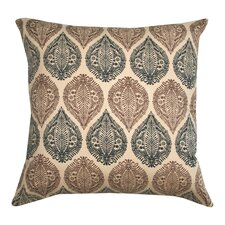 Kelsey Block Print Cotton Pillow