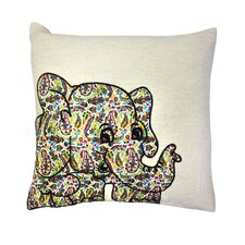 Elephant Cotton Pillow