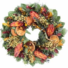 Autumn Indian Summer Protea Wreath