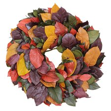 Autumn Preserved Jewel Salal Wreath