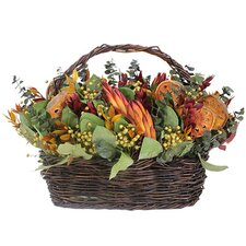 <strong>Urban Florals</strong> Autumn Indian Summer Protea Desk Top Plant in Basket