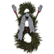 Holiday Houndstooth Wreath decor