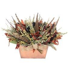 Autumn Pheasant Hill Desk Top Plant in Planter