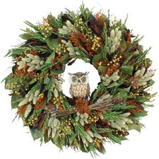 Autumn Give a Hoot Wreath