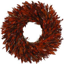 Preserved Red Myrtle Wreath