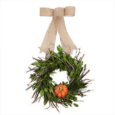 Fresh Pumpkin Wreath
