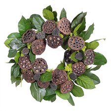 Autumn Lotus Pod Wreath