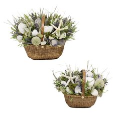 Lavender Jewel Nantucket Basket Set (Set of 2)