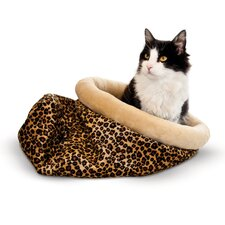 Self Warming Leopard Kitty Sack
