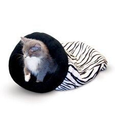 Self Warming Zebra Kitty Sack