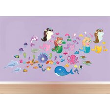 Peel and Play Oceangirl/Mermaid Wall Decal