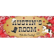 Cowboy Boy Name Wall Plaque