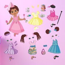 <strong>Mona Melisa Designs</strong> Peel and Play Doll Curly Wall Decal