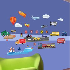 <strong>Mona Melisa Designs</strong> Peel and Play Cars/Trucks Wall Decal