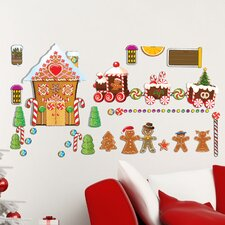 Peel and Play Gingerbread House Wall Decal