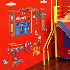 Peel and Play Firefighter Wall Decal