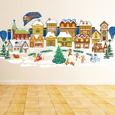 Peel and Play Holiday Christmas Village Wall Decal