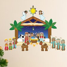 Peel and Play Holiday Nativity Set Wall Decal