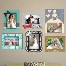 Peel and Stick Wedding Frame Wall Decal