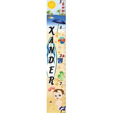 Personalized Beach Boy Growth Chart