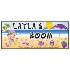 Beach Girl Name Wall Plaque