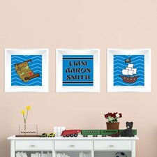 3 Piece Pirate Picture Frame Wall Decal Set