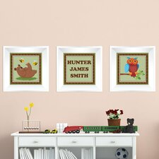 3 Piece Forest Picture Frame Wall Decal Set