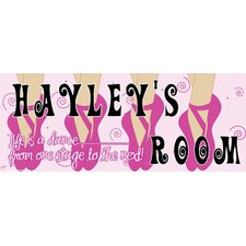 Ballerina Girl Name Wall Plaque