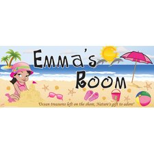 Beach Girl Name Sign