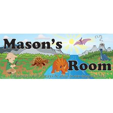 Dino Boy Name Wall Plaque