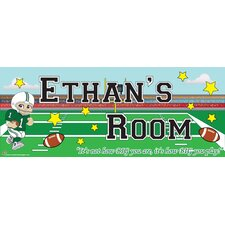 Football Boy Name Wall Plaque