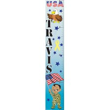 Patriotic Boy Growth Chart