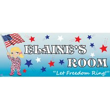 Patriotic Girl Name Wall Plaque