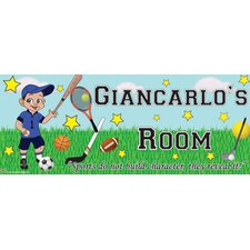 Sports Boy Name Wall Plaque