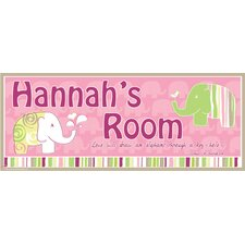 Elephant Girl Name Wall Plaque