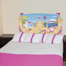 Peel and Stick Beach Girl Panel Headboard