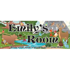 Forest Girl Name Wall Plaque