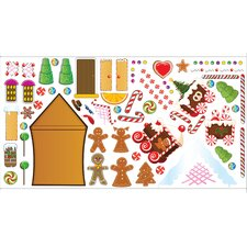 Peel and Play Gingerbread House Wall Play Set