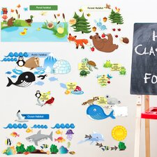 Peel and Learn Eco System Wall Decal
