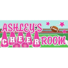 Cheerleader Name Wall Plaque